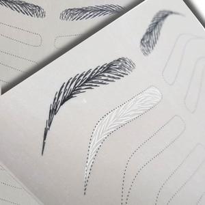 Image 2 - 눈썹 연습 마이크로 블레이드 용 스킨 영구 화장 용 눈썹 문신 눈썹 훈련 양면 잉크 필요 없음