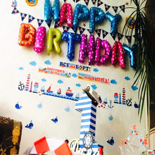 13PCS 16 Inch Happy Birthday Balloons Party Decoration Letters Alphabet Aluminum Helium Balloon Foil Baloon Kids Air Balloon 16 inch letters happy birthday foil balloons happy birthday party decoration kids alphabet air inflatable balloons party supply