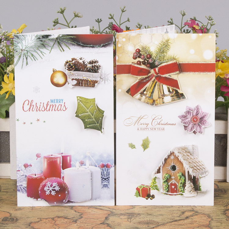 Free ship1lot24pcpopular nice christmas message business card popular nice christmas message business card 3d cardgreeting festival holiday wish paper cards in cards invitations from home garden on colourmoves