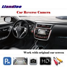 Liandlee Auto Reverse Parking Camera For Nissan Teana Altima 2018 / Rear Rearview Camera Back Work with Car Factory Screen soft decorative pillows pillow case square home decor velvet cushion cover for living room bedroom sofa living room decoration
