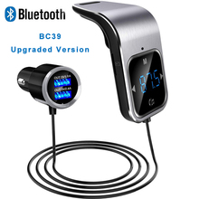 FM Transmitter Bluetooth Car Wireless Radio Adapter AUX MP3 Player FM Modulator with Hands-free Speaking Dual USB Fast Charger