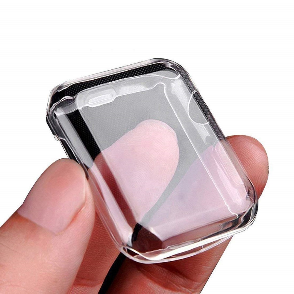 Silicone Soft Case For Apple Watch Series 4 44mm 40mm TPU Protector Cases For IWatch 3 All-around Cover Ultra-thin Clear Frame