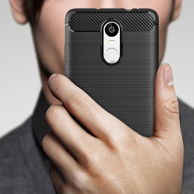 For Xiaomi Redmi Note 3 Case Luxury Carbon Fiber Anti-drop TPU Soft Cover Case For Redmi Note 3 Pro Back Cover Redmi note3