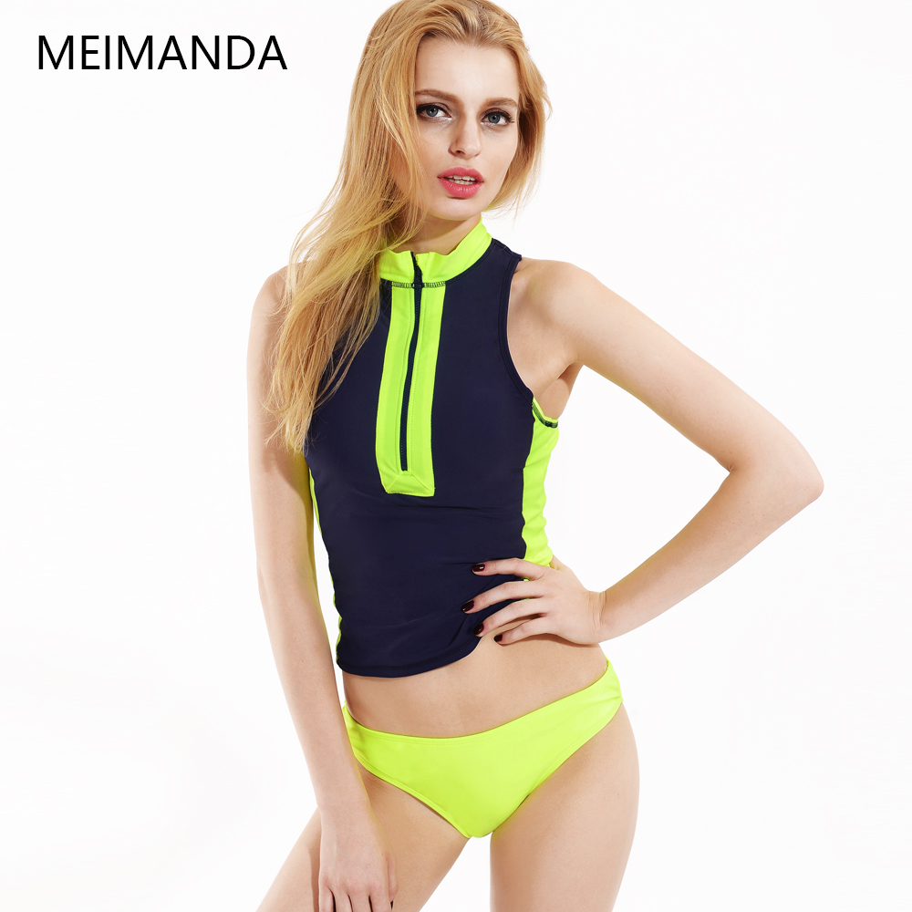 aad1f78d226 Women Bikinis Two - piece Swimsuit High Elasticity For Girls Bathing Suit  Women Spell Color Sports Sexy Hot SwimsuitsHZ16028