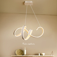 Modern led pendant light dining room parlor led lampada indoor lighting led strip pendant lamp Aluminum body white AC 90 260v