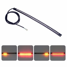 Universal Motorcycle 36 LED Strip Stop Lamp Left Right Turn Signal Tail Brake DRL Light Red Amber Car Styling