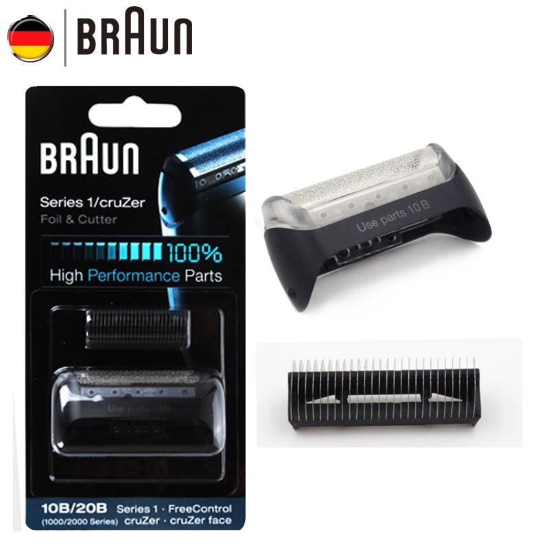 Braun Électrique Blabe rasoir 10B/20B pour Hommes Rasoir Électrique (1000/2000 Série) remplacement (180 190 1775 1735 2675 5728 5729)