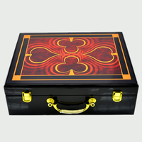 Top grad luxury portable wooden box 500 yard chips poker can carry 500 chips code case with 5 shelves man creative gift