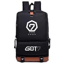KPOP GOT7 BamBam Джексон JB нейлон Мода школьный рюкзак сумка