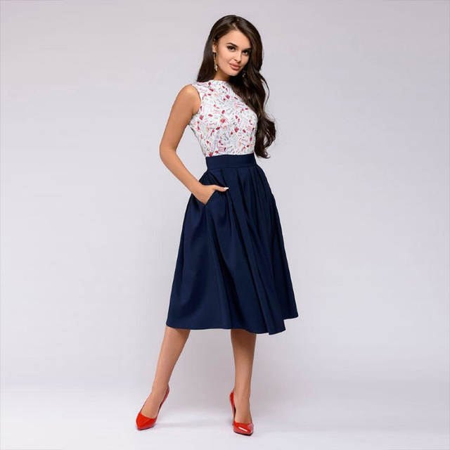 a725a1df3030 Summer Dress 2018 Women Vintage Casual Elegant Bohemian Party Dresses  Sleeveless Floral Prom Midi Dress Long