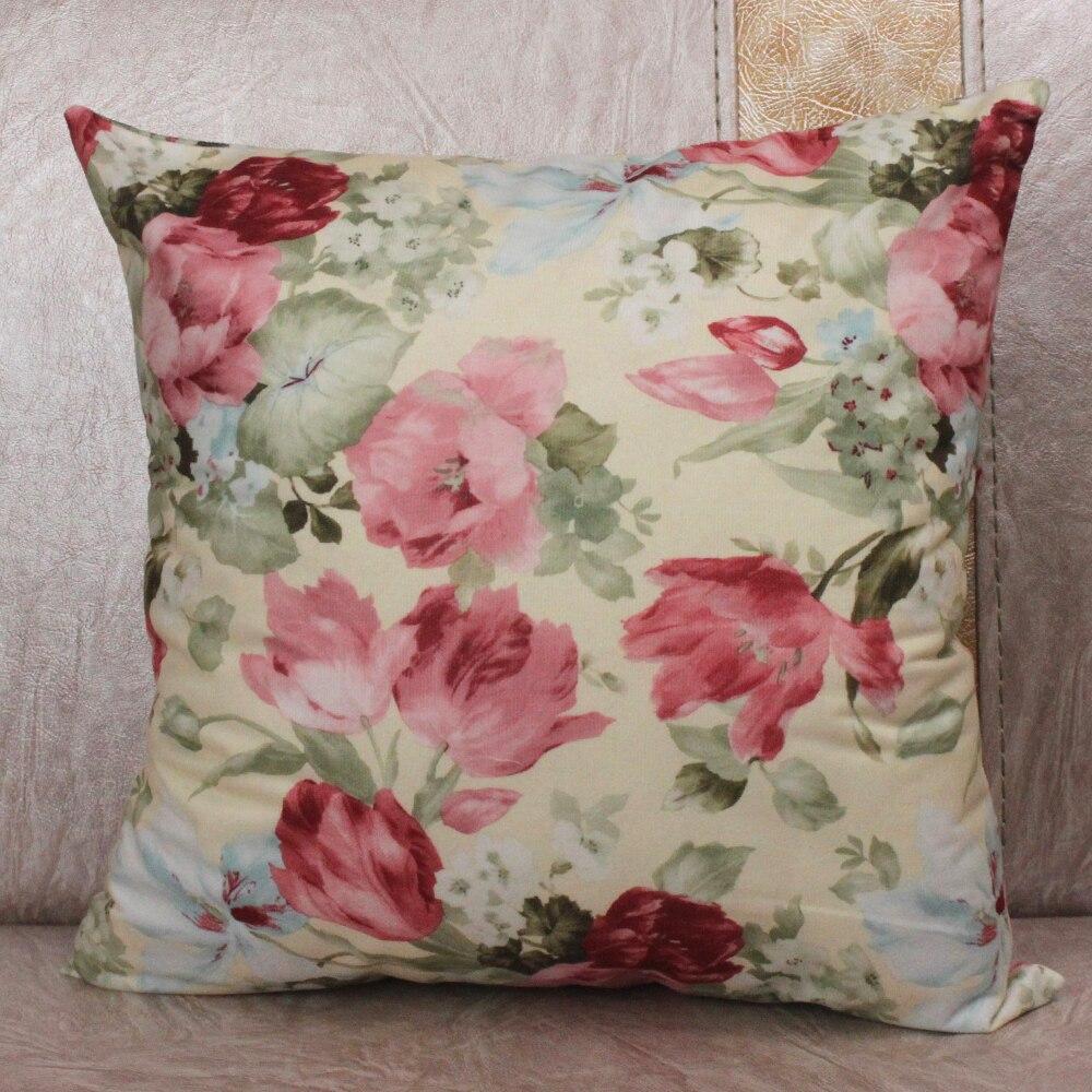 2x satin de soie standard Coussin Oreiller Couvre Floral taies Bed Decor