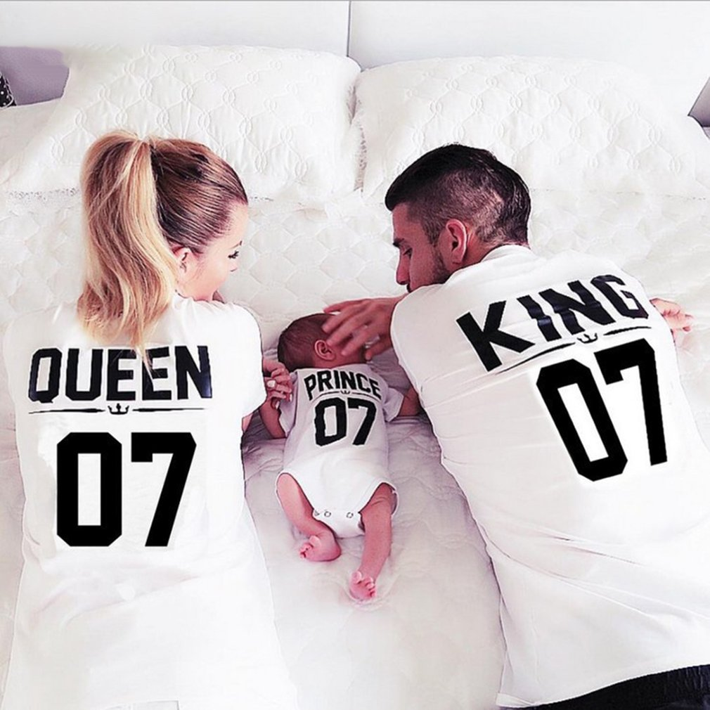 Summer Family Matching Outfits Mommy Daddy Kid Baby Shirts Family Activity Clothes Children Letter Printed Tops T-Shirt Clothing