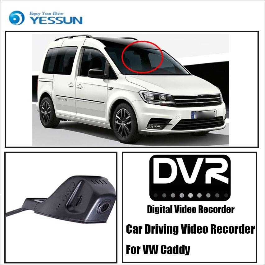 YESSUN Pour Volkswagen Caddy Avant De la Voiture Dash Caméra CAM-Pour iPhone Android APP Contrôle Fonction/DVR Conduite Vidéo enregistreur