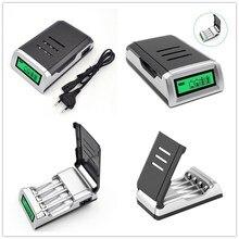 """אוניברסלי 1Pc חכם LCD מטען האיחוד האירופי/ארה""""ב/בריטניה Plug עבור 9V AA AAA Ni MH ni CD נטענת סוללות"""