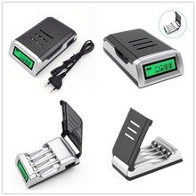 Universal 1Pc Smart LCD Charger EU /US /UK Plug For 9V AA AAA C D Ni MH Ni CD Rechargeable Batteries