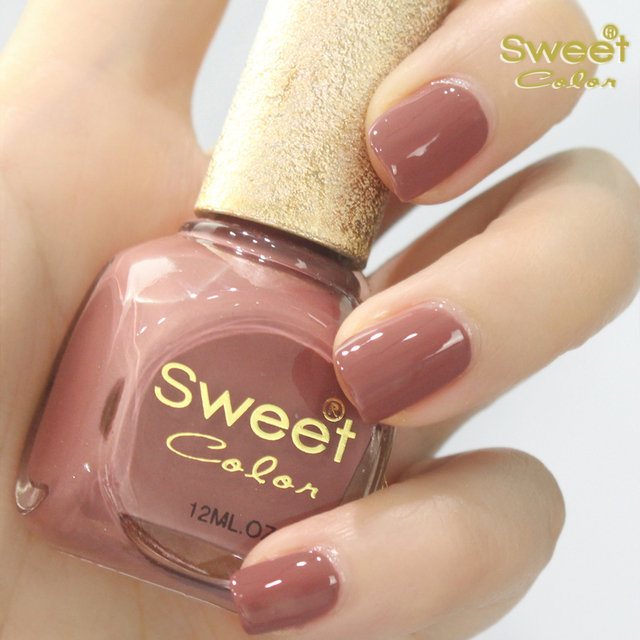 Sweet Color Nail Polish Environmental Protection Chocolate Natural ...