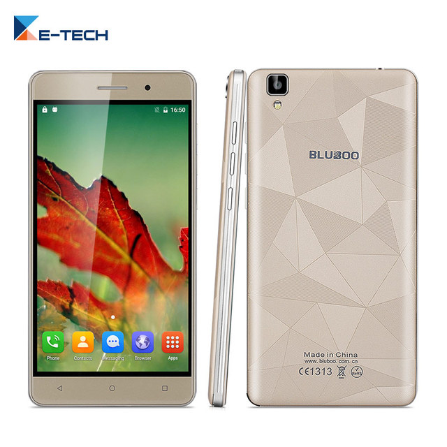 Оригинальные Bluboo Майя MT6580 Quad Core 5.5 Дюймов 1280*720 Android 6 Смартфон 2 ГБ RAM 16 ГБ ROM 13MP Dual SIM Мобильный телефон