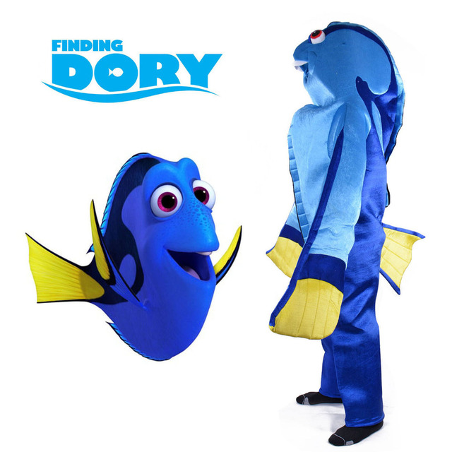Finding Dory Costume Animal Mascot Regal Blue Tang Dory