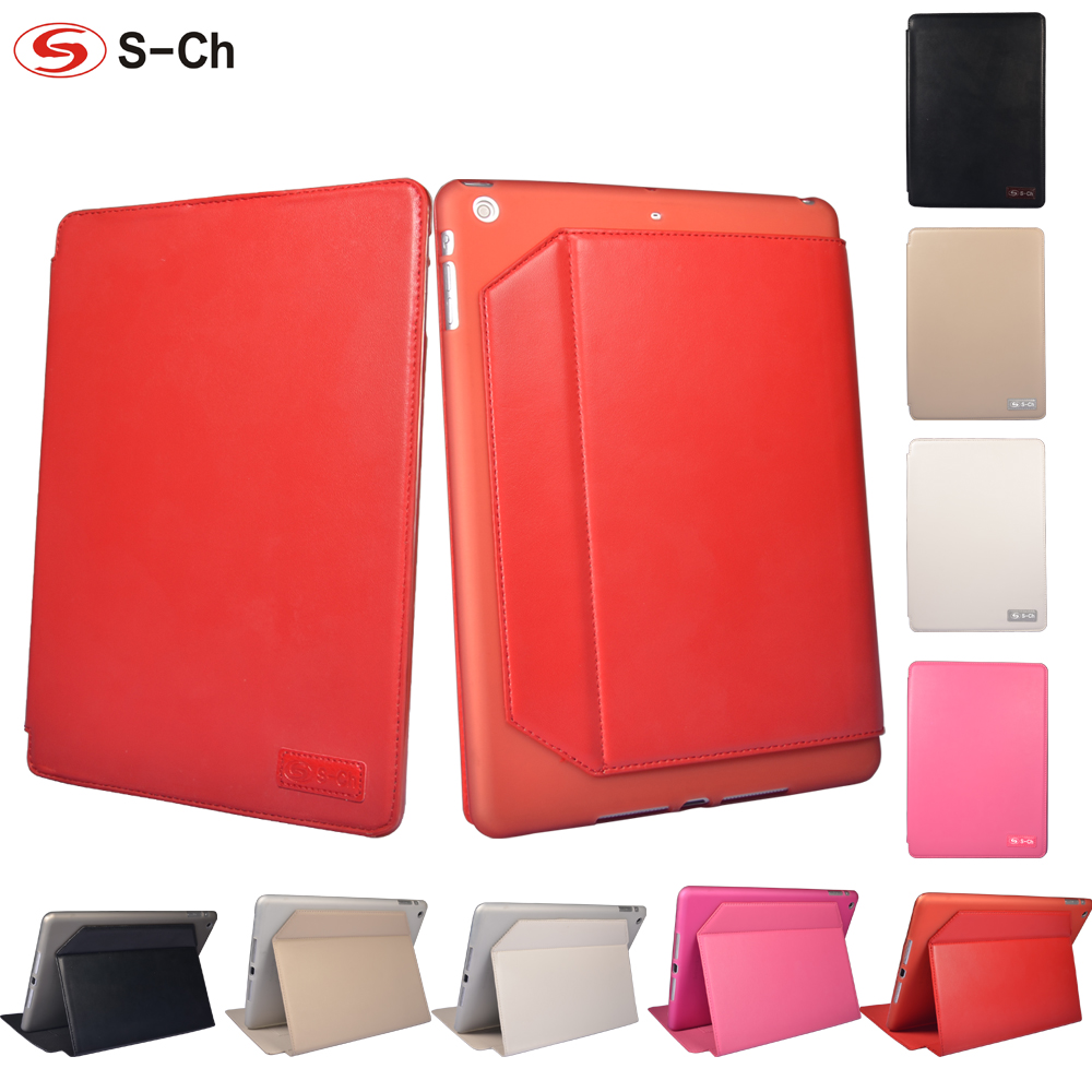 Simple PU Leather Case For Apple ipad Air ipad 5 Tablets Smart Slim Flip Folding Protective Cover Case 9.7 inch 5 Color