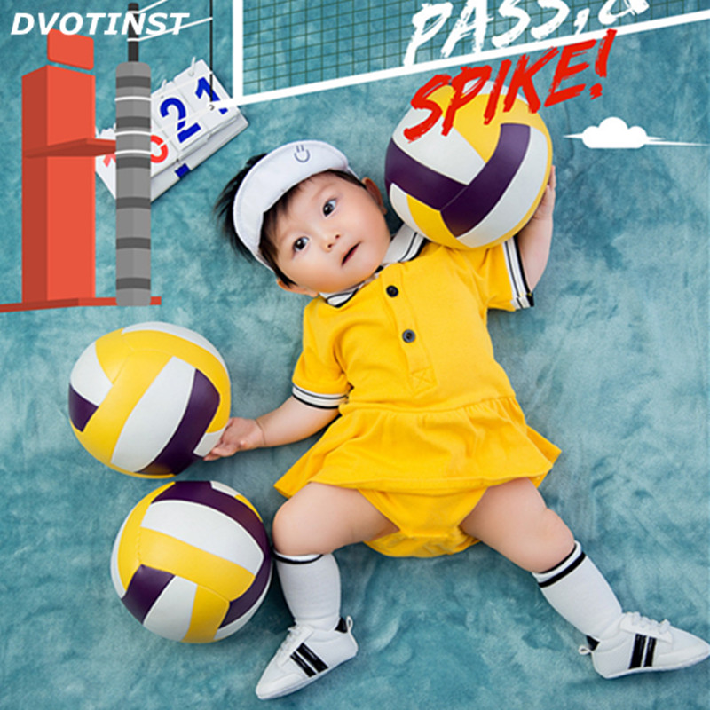 Dvotinst Newborn Baby Photography Props Volleyball Theme Background Clothes Set Fotografia Accessory Studio Shoot Photo Props стиральная машина lg f12b8qd5 rus серебристый