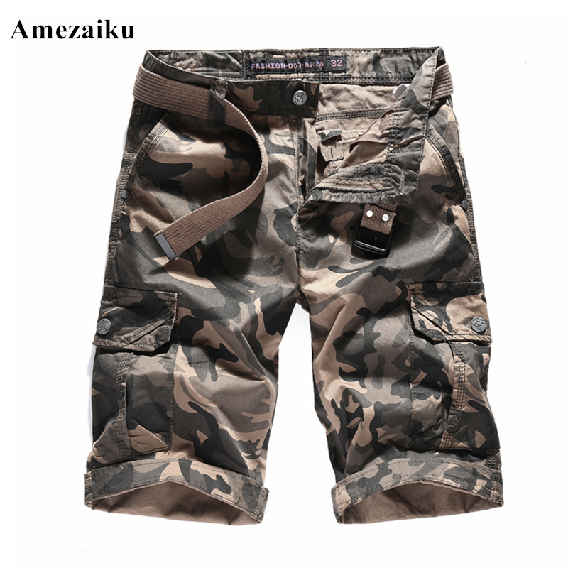 2018 new summer mens cotton camouflage casual mens shorts ...