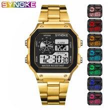 Цифровые часы synoke для студентов мужские разноцветные светящиеся