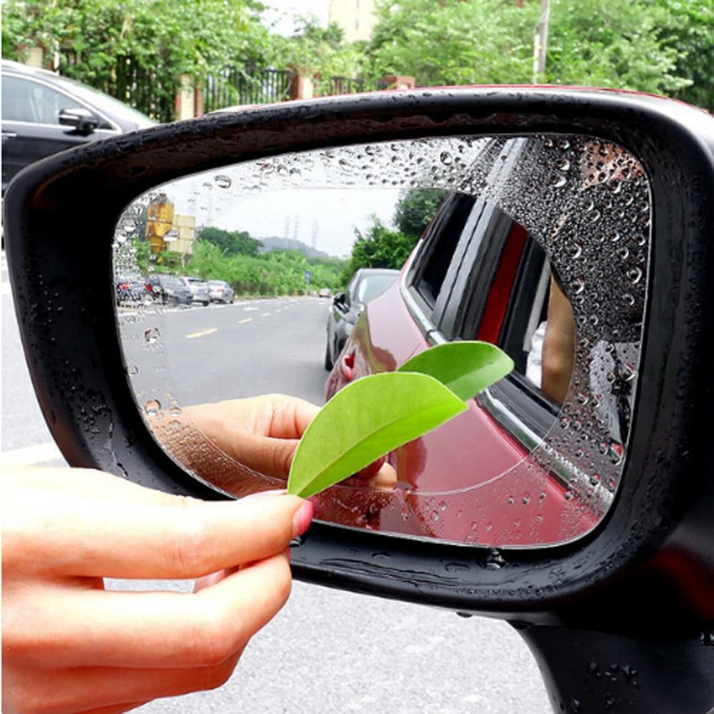 Car Rainproof Rearview Mirror Protective Film Auto Accessories For Renault Koleos Clio Scenic Megane Duster Sandero Captur Twing Car Tax Disc Holders