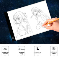 A4 LED Artist Thin Art Stencil Drawing Board Light Box Tracing Writing Portable Electronic Tablet Pad Acrylic Graphic Tablets