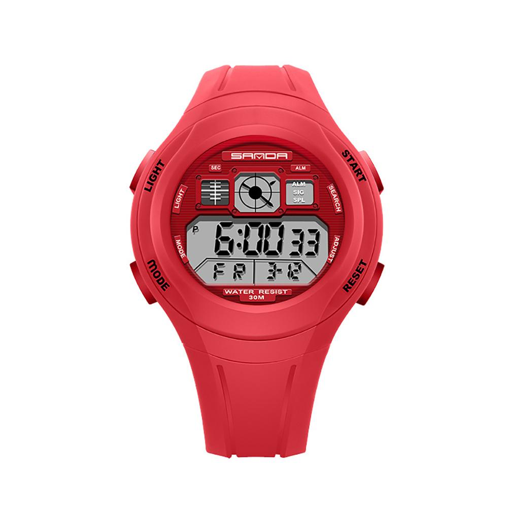 Sports Waterproof Backlight Alarm Round Dial Rubber Kids Digital Wrist Watch Watches Relogio Kids Watch
