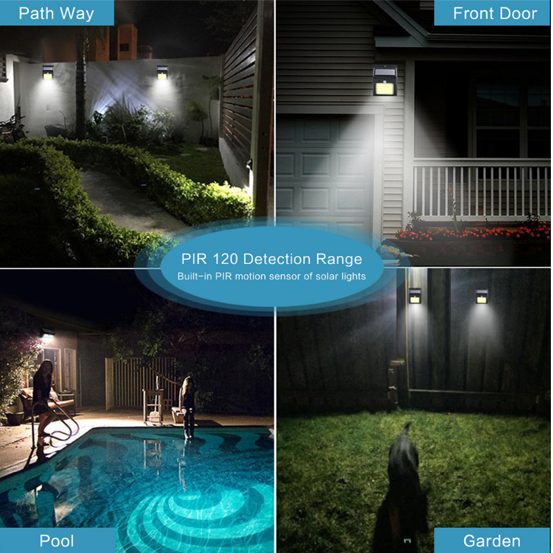 LED flashlight outdoor sensor wall waterproof solar garden street