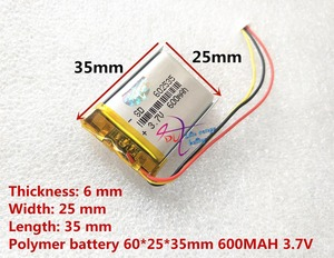 Image 4 - the video recorder  388 Capacity 600MAH model 582535 602535 P polymer thium battery 3 line