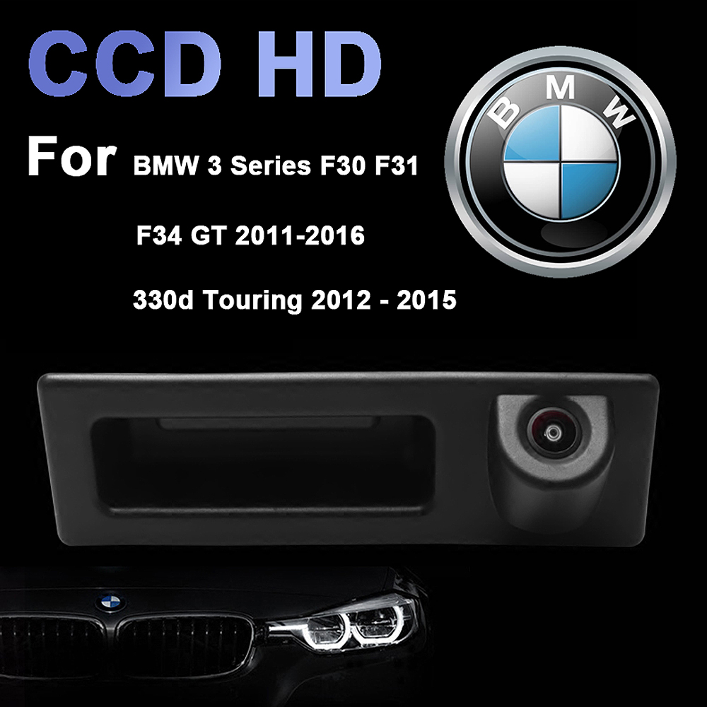 Car Trunk Reversing Handle CCD Rear View Camera for BMW 3 Series F30 F31 330D !
