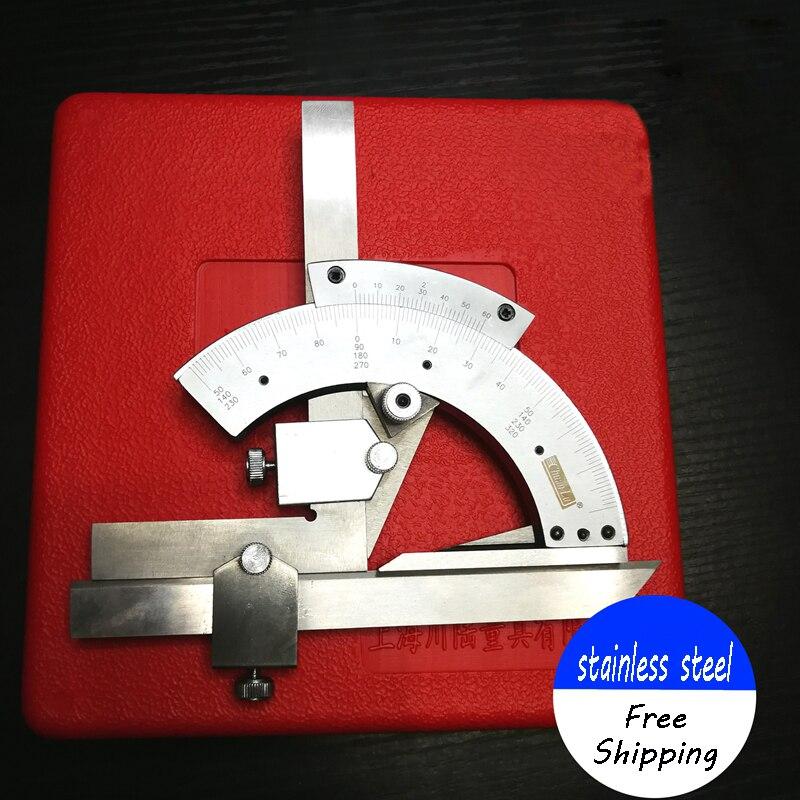 角度定規 0-320 度ユニバーサル分度器炭素鋼ゴニオメータ角度ファインダーためのツールを測定測定インナー/アウター角度