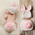 Infant Newborn Handmade Crochet Hat Cap Underwear Photography Prop Baby Gilr Costume Toddler Christening 2pcs Clothing Set S3578