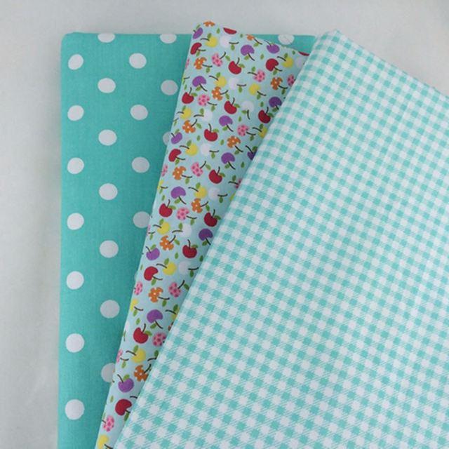 9Pcs Cotton Flower Polka Dots Pre Cut DIY Handmade Decor Charm Cloth Squares Quilt Household Patchwork Sewing Fabrics Textiles 1