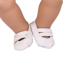 White Doll Shoes Fit 43cm Doll Baby Born Zapf Doll Accessories For Children Girl Baby Christmas