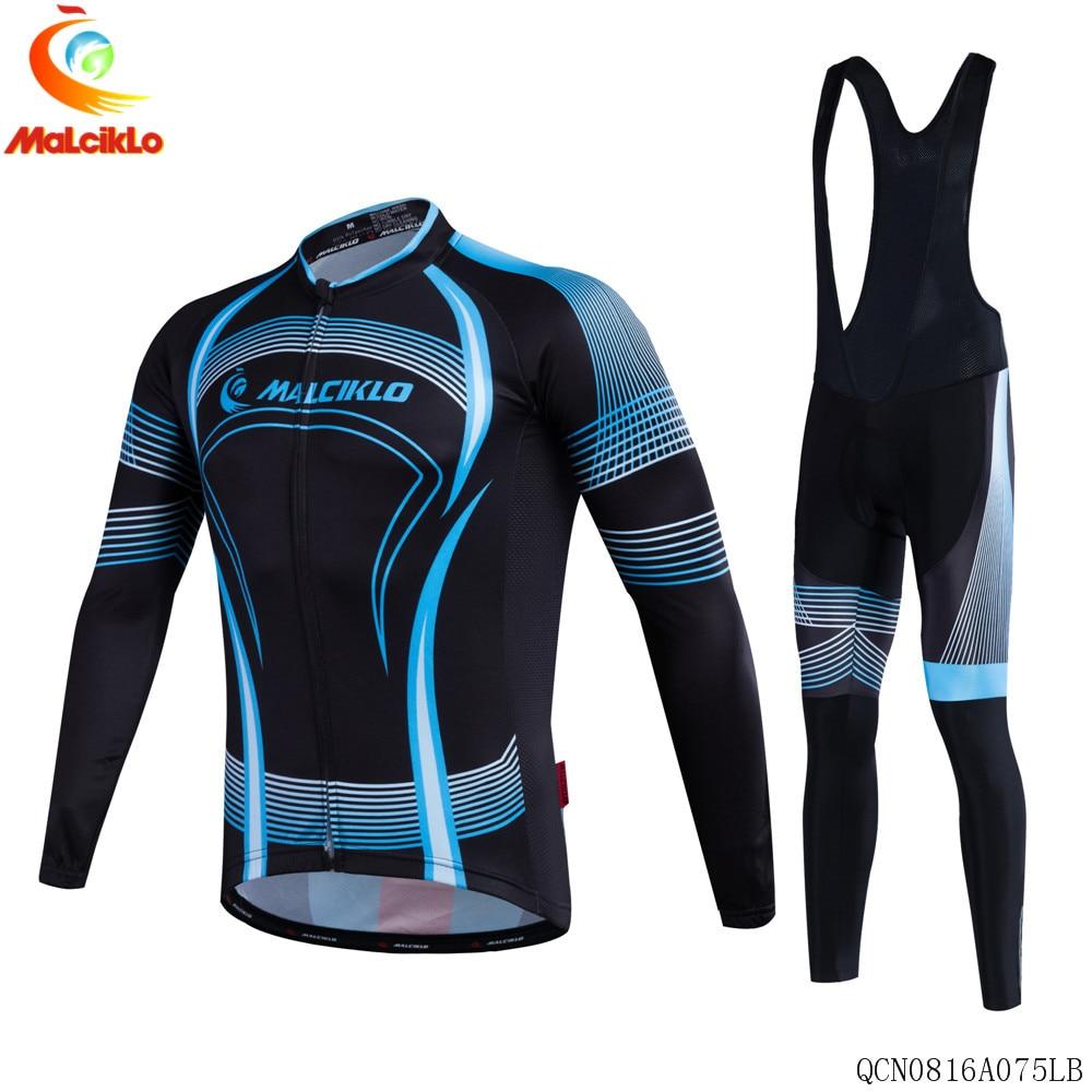 Malciklo 2017 Newest Men Bike Maillot Rock Racing Sportwear  Long  Sets Bike Clothing Ropa Ciclismo Cycling Jersey C017