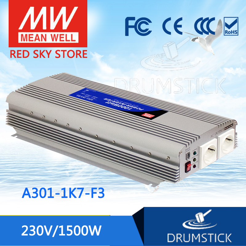 цена на Original MEAN WELL A301-1K7-F3 230V  meanwell A301-1K7  1500W Modified Sine Wave DC-AC Power Inverter