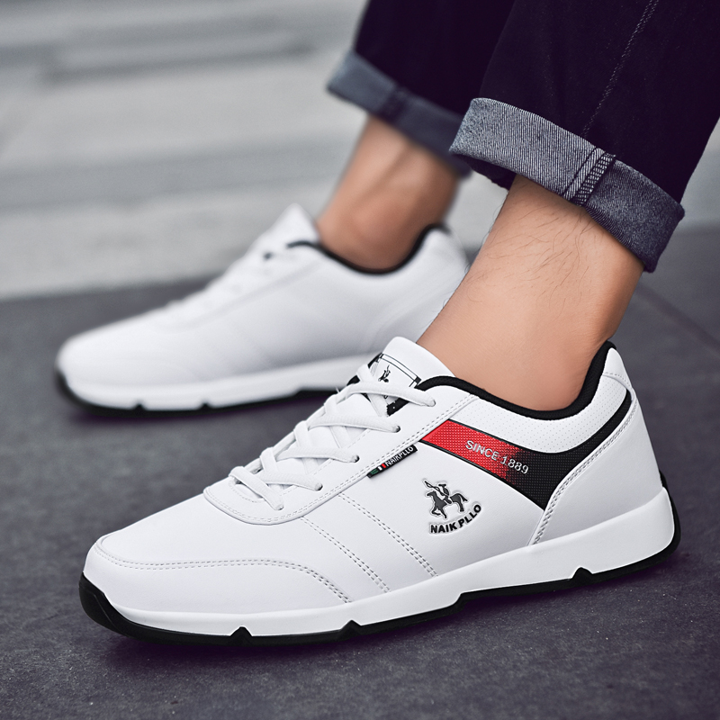 2018 Autumn Male Sneakers Low Top Training Shoes For Men Pu Leather Sports Men Shoes Brand Designer Mens Discount Running Shoes