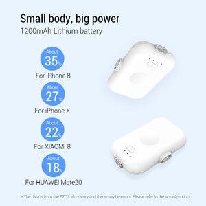 Image 3 - PZOZ 磁気電源銀行 1200 mAh 外部バッテリー充電器マグネットミニ PowerBank リチウムポリマーバッテリー iphone マイクロ usb タイプ c