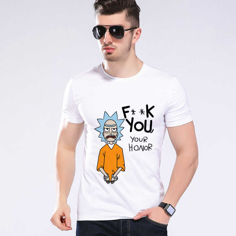 Newest Funny Cool Rick Morty men t shirt Summer New Anime Cotton Casual Funny Short Tops Tees Einstein Shirt Designer Top L9C19
