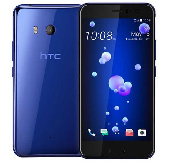 """HTC U11 الأصلي مقفلة GSM 3G 4G شاحن هاتف محمول يعمل بنظام تشغيل أندرويد الثماني النواة 5.5 """"12MP و 16MP WIFI GPS 4 GB RAM 64 GB ROM بصمة NFC"""