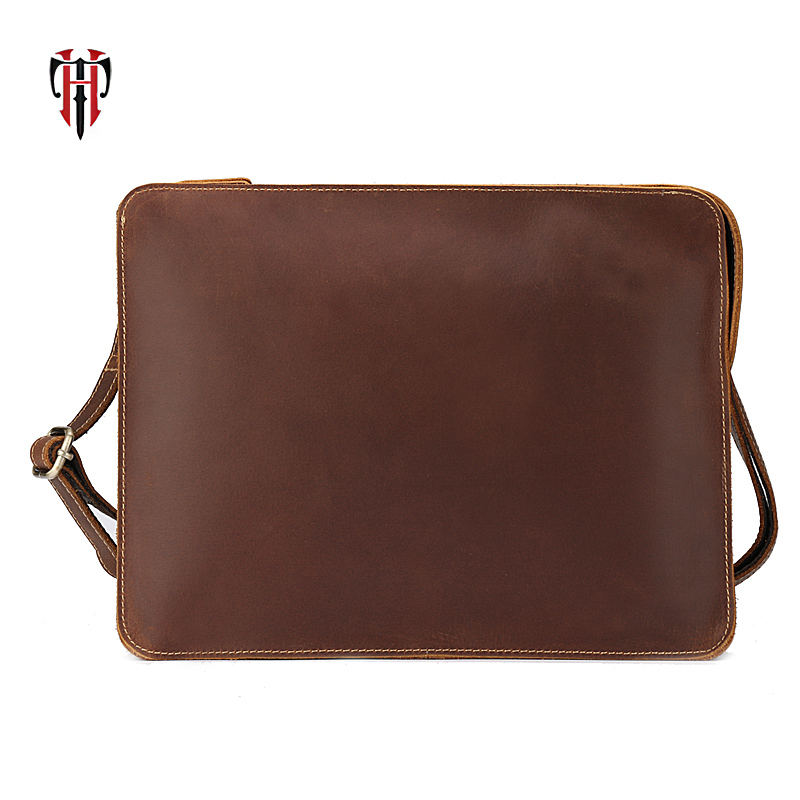 все цены на TIANHOO messenger bag men genuine leather briefcase men shoulder bag business casual crossbody bags for men clip в интернете
