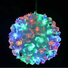 50LED Christmas Colorful Hang Ball Lamp XMAS Tree Ornament Christmas Baubles Light Decor Free Shipping