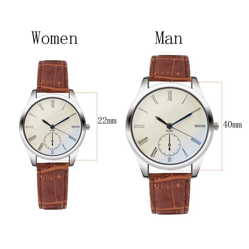 Man Watches Women Mens Watch Analog Casual Brown Leather Strap Couple Watches Top Brand Creative Luxury erkek kol saati 2018