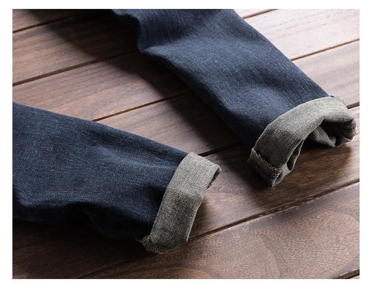 Men Denim Bib Jumpsuit Hip Hop Slim Fit Casual Jean Pants Dark Blue Streetwear Male Suspenders Jumpsuit Size S-2XL (8)