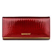 Women's Stylish Long Patent Leather Wallet