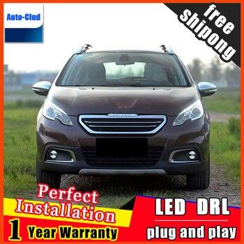 Car-styling LED fog light for Peugeot DSDS5 2013-2015 LED Fog lamp with lens and LED daytime running ligh for car 2 function