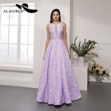 Sexy Lilac Sleeveless Crew Prom Dress 2020 A Line Elegant Ja