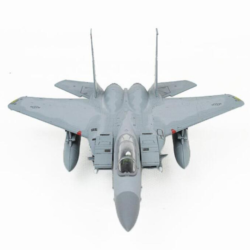 1/100 scale American US Navy Army Air force fighter attack military aircraft airplane model toy F-15 for display show collection image